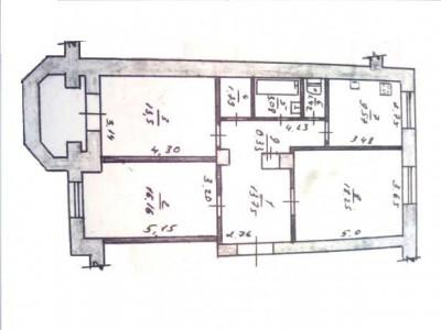 Продам 3-кімн.повном. квартиру в р-ні пл.Запорожской