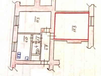 Продам кімнату в 2-комн.квартиру в Космічному мкрн, вул. Лазаретна