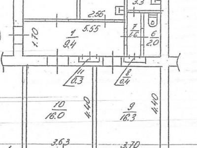 Продам 3-к повнометражну квартиру, пр. Леніна, Дніпровський район, р-н КЗ Глінки