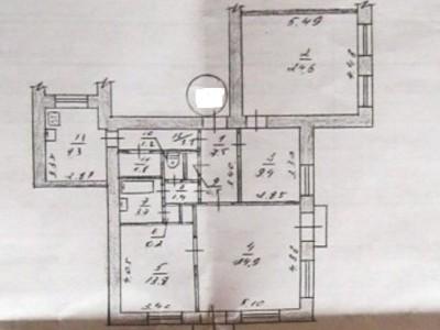 Продам 4-к повнометражну квартиру, пр. Соборний, район вул. Анголенко